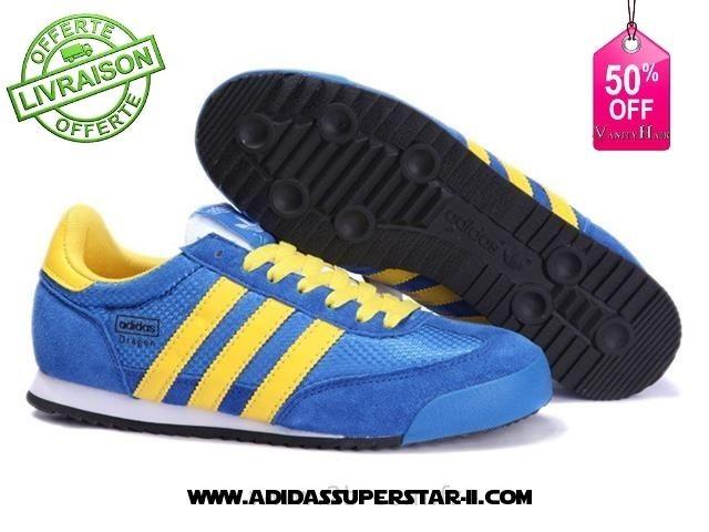buy popular fd067 8ab3a basket adidas bleu et jaune